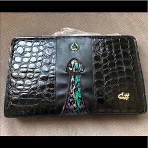 Handbags - VINTAGE FAUX ALLIGATOR HANDBAG GEOMETRIC PEARLIZED